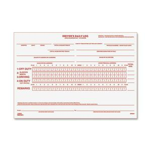"Rediform Driver's Daily Log Book - 31 Sheet(s) - Stapled - 2 Part - Carbonized - 5.5"" x 7.87"" Sheet Size - White - 1Each"