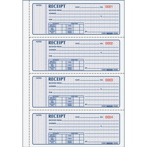 Rediform 3-pt Carbonless Money Receipt Book RED8L808