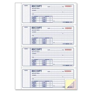 Rediform Hardbound Money Receipt Book RED8L818