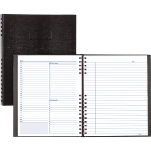 "Rediform NotePro Daily Planner - Daily - 8.5"" x 11"" - 7:00 AM to 11:00 PM - 1 Day Per 2 Page(s) - Paper - Black"