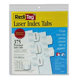 Laser Index Tabs