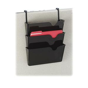 "Rubbermaid Hanging Wall File System - 21.5"" x 14.25"" x 4.37"" - 3 Pocket(s) - Plastic - Smoke"