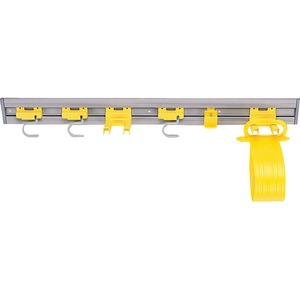 Rubbermaid Closet Organizer Tool Holder - 1, 2 Double Hook, S-hook - Gray