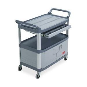 "Rubbermaid Instrument Cart - 3 Shelf - 300 lb Capacity - 41"" x 20"" x 38"" - Gray"