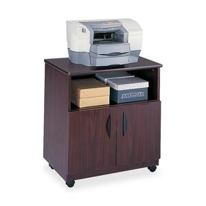 Safco 1850MH Mobile Machine Stand - Wood - Mahogany
