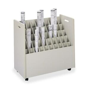 Safco 50 Compartments Mobile Roll Files SAF3083