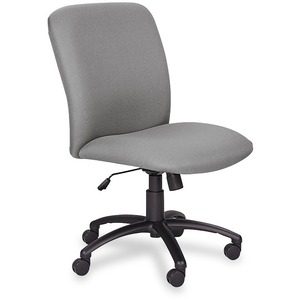 Safco Big & Tall Executive High-Back Chair - Black Frame - Foam Gray, Polyester Seat