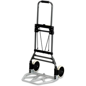 "Safco Stow-Away 4062 Medium Hand Truck - Telescopic Handle - 275 lb Capacity - 2 x 7"" Caster19.5"" x 18"" x 39"" - Aluminum"