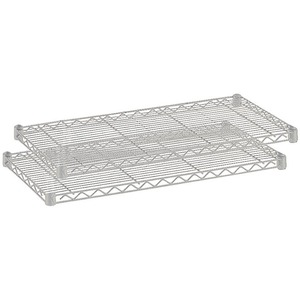 "Safco Extra Shelf Pack - 36"" x 18"" x 1.5"" - Steel - 2 x Shelf(ves) - Metallic Gray"