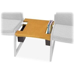 "Safco Urbane Reception Table - Square - 21"" x 21"" x 17"" x 1"" - Hardwood - Medium Oak"