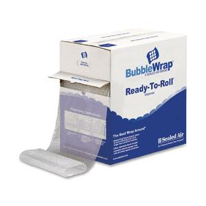 "Sealed Air Bubble AirCellular Cushioning Material - 12"" Width x 100ft Length - 1 Wrap(s) - Lightweight, Perforated - Clear"