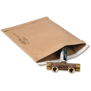 "Sealed Air Jiffy 21490 Padded Mailer - #6 (12.5"" x 19"") - Peel and Seal - Kraft - 25 / Carton - Satin Gold"