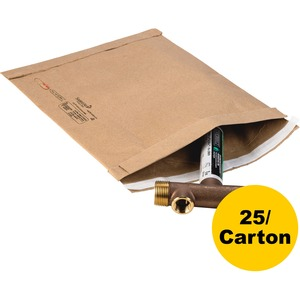 "Sealed Air Jiffy 21491 Padded Mailer - #7 (14.25"" x 20"") - Peel and Seal - Kraft - 25 / Carton - Satin Gold"