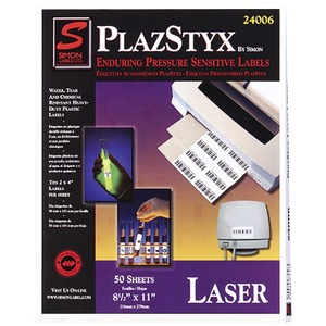 Simon PlazStyx Laser Label SJPSL81216