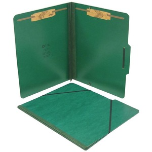 "SJ Paper Pressboard Expansion Folio - Letter - 8.5"" x 11"" - 2"" Expansion - 2"" Capacity - 15 / Box - 25pt. - Forest Green"