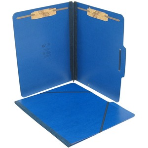 "SJ Paper Pressboard Expansion Folio - Letter - 8.5"" x 11"" - 2"" Expansion - 2"" Capacity - 15 / Box - 25pt. - Blue"