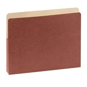 "SJ Paper Red Wallet Expanding Pockets - Letter - 8.5"" x 11"" - 1.75"" Expansion - 50 / Box - 11pt."