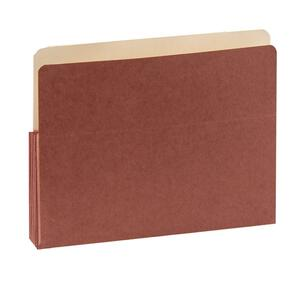"SJ Paper Red Wallet Expanding Pockets - Letter - 8.5"" x 11"" - 3.5"" Expansion - 50 / Box - 11pt."
