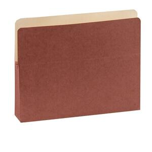 "SJ Paper Red Wallet Expanding Pockets - Letter - 8.5"" x 11"" - 5.25"" Expansion - 25 / Box - 11pt."
