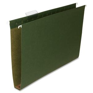"Sparco Box Bottom Hanging File Folder - Legal - 8.5"" x 14"" - 1"" Capacity - 25 / Box - Green"