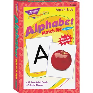 Trend Alphabet Match Me Flash Cards - Alphabet Recognition, Picture Words