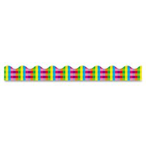 Trend Terrific Trimmers Rainbow Plaid Bulletin Board Trimmer TEPT92044