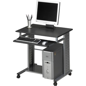"Tiffany Mobile Workstation - Rectangle x 29"" - Steel - Charcoal Gray"