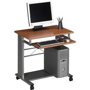 "Tiffany Empire Mobile PC Workstation - Rectangle x 29"" - Steel - Cherry"