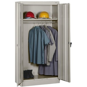 Tennsco Heavy-gauge Steel Wardrobe Cabinet TNN7114LGY