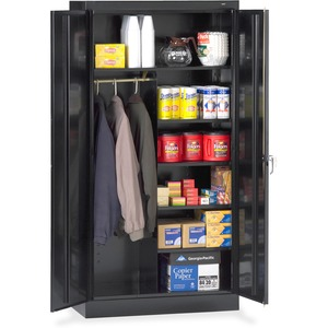 Tennsco Combination Wardrobe/Storage Cabinet TNN7214BK