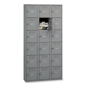 Tennsco Six-Tier Box Locker TNNBS6121812CMG