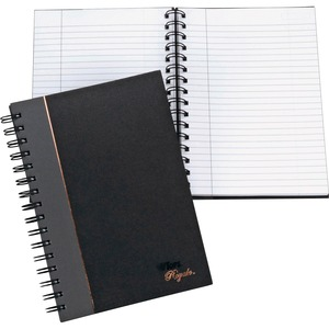 "Tops Sophisticated Business Notebook - 96 Sheet(s) - 20lb - Ruled - 5.88"" x 8.25"" - 1 Each - White"