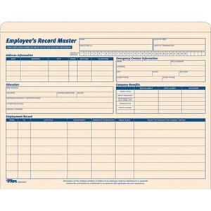 Employee Record Master File Jacket