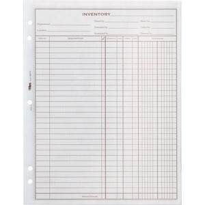 Tops Easy Use Inventory Sheet TOP34771