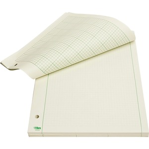 "Tops Engineering Computation Pad - 50 Sheet(s) - 15lb - Ruled - Letter 8.5"" x 11"" - 200 / Pad - Green"