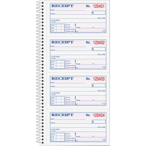 Tops Money/Rent Receipt Book TOP4161