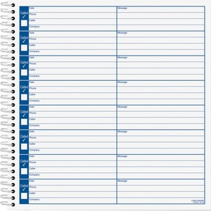 "Tops Voice Message Log Book - 50 Sheet(s) - 8.5"" x 8.25"" Sheet Size - White - 1Each"