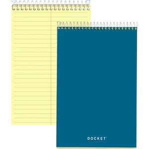 "Tops Docket Steno Pad - 100 Sheet(s) - Gregg Ruled - 6"" x 9"" - 1 Each - Canary"