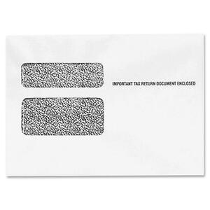 "Tops W-2 Form Double Window Envelope - 9.5"" x 5.62"" - 24lb - Wove - 500 / Carton - White"