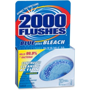 2000 Flushes Toilet Bowl with Bleach & Blue Detergent