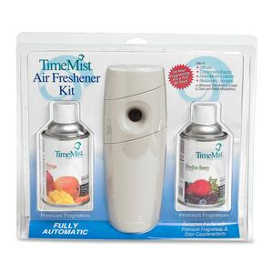 Waterbury TimeMist Air Freshener Dispenser Kit - 15 Minute Spray Setting - 30 Day(s) Refill Life - Voodoo Berry, Mango - 2 x C Battery - Beige