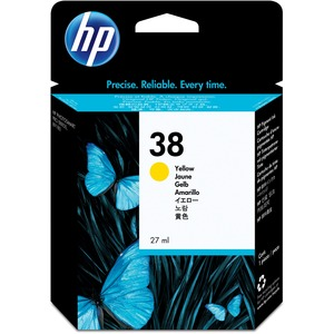 HP 38 Yellow Pigment Original Ink Cartridge HEWC9417A