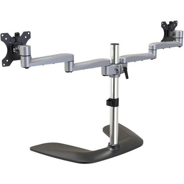 StarTech.com Dual Monitor Stand - Ergonomic Desktop Monitor Stand for up to 32 inch VESA Displays - Free-Standing Adjustable Mount -Silver_subImage_4
