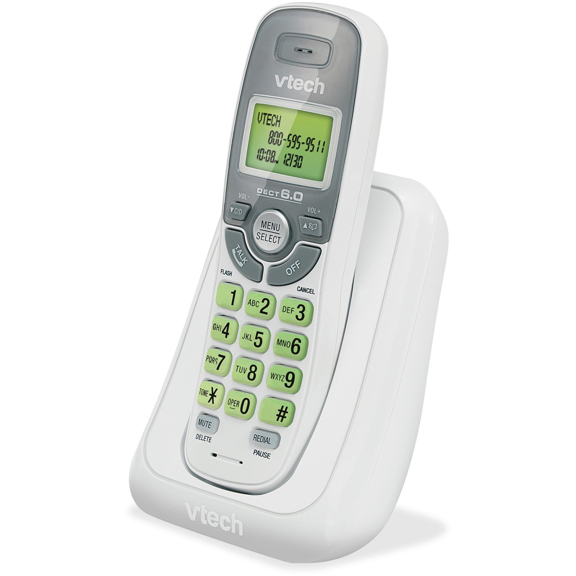 vtech cs6114 dect 6 0 cordless phone with caller id call waiting rh shopbulldog com VTech Handset Manual VTech Cordless Phone Manuals