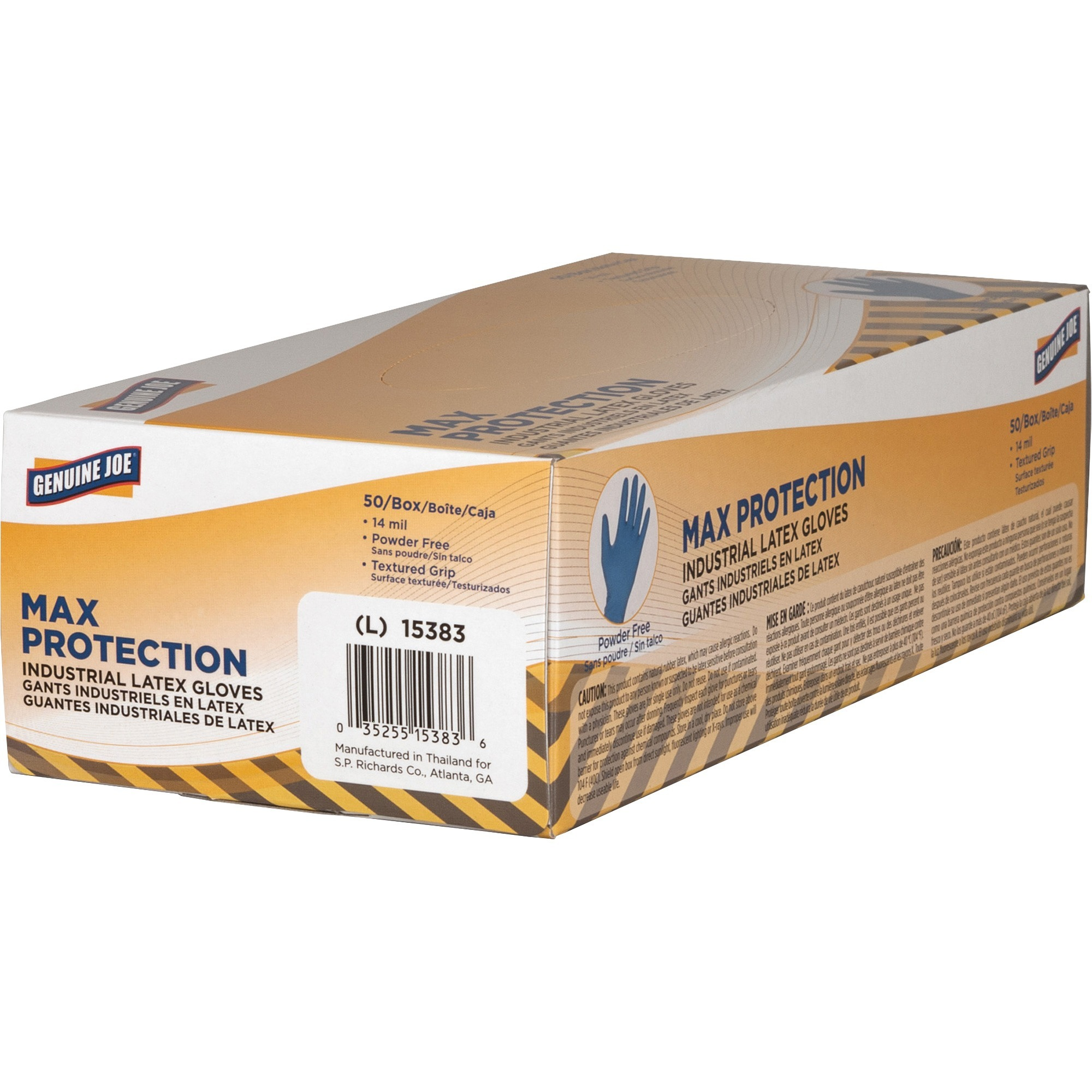 Genuine Joe 14 Mil Max Protection Ind Latex Gloves