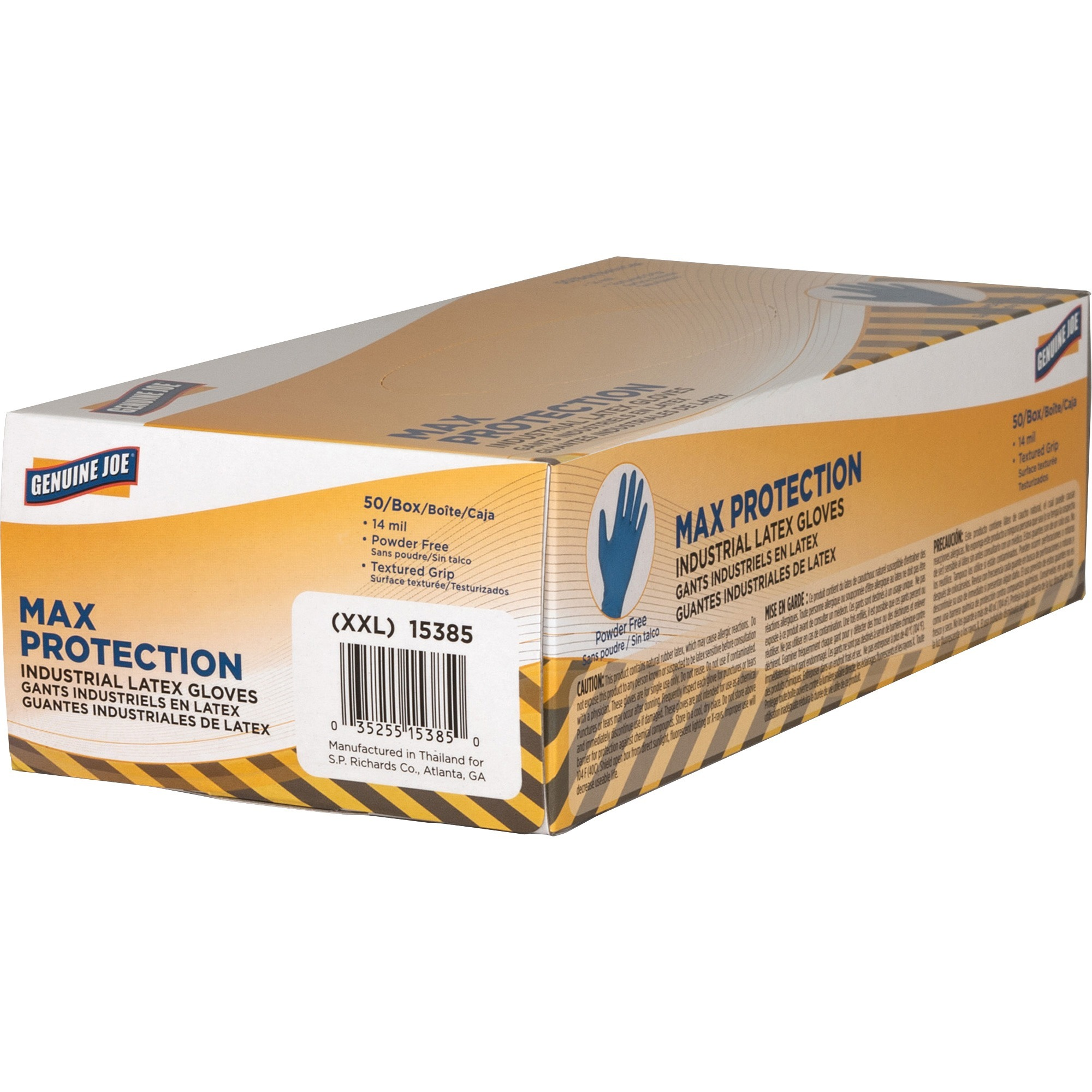 Genuine Joe 14 Mil Max Protection Ind Latex Gloves