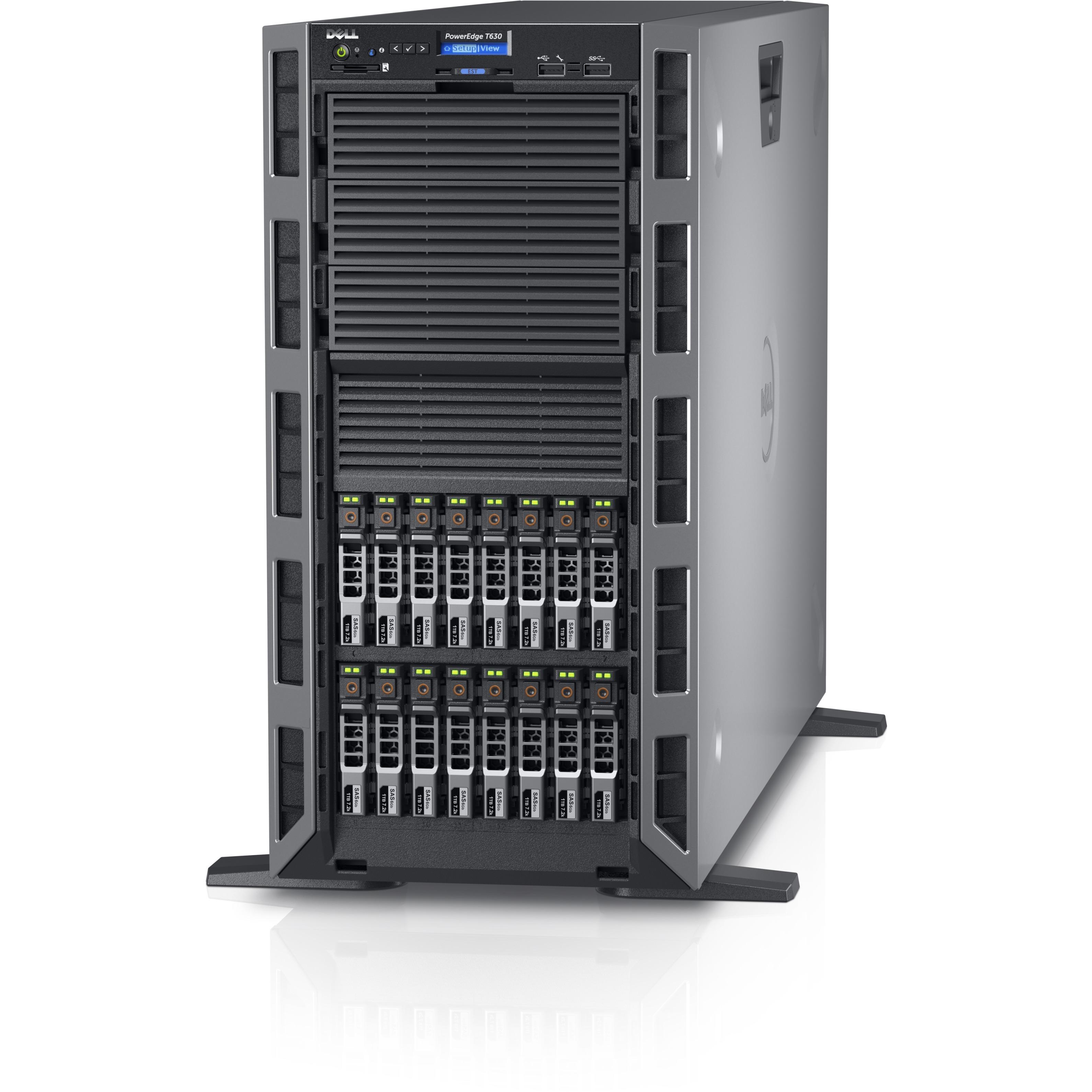 new dell poweredge t630 5u tower server 1 x intel xeon e5 2620 v4 octa core 8 ebay. Black Bedroom Furniture Sets. Home Design Ideas