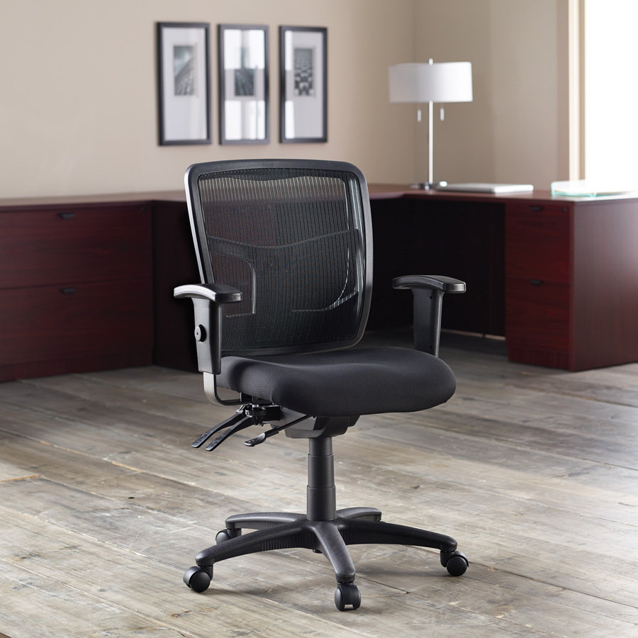 Lorell ErgoMesh Series Managerial Mid Back Chair LLR86201 · Original Right  Life Style ...
