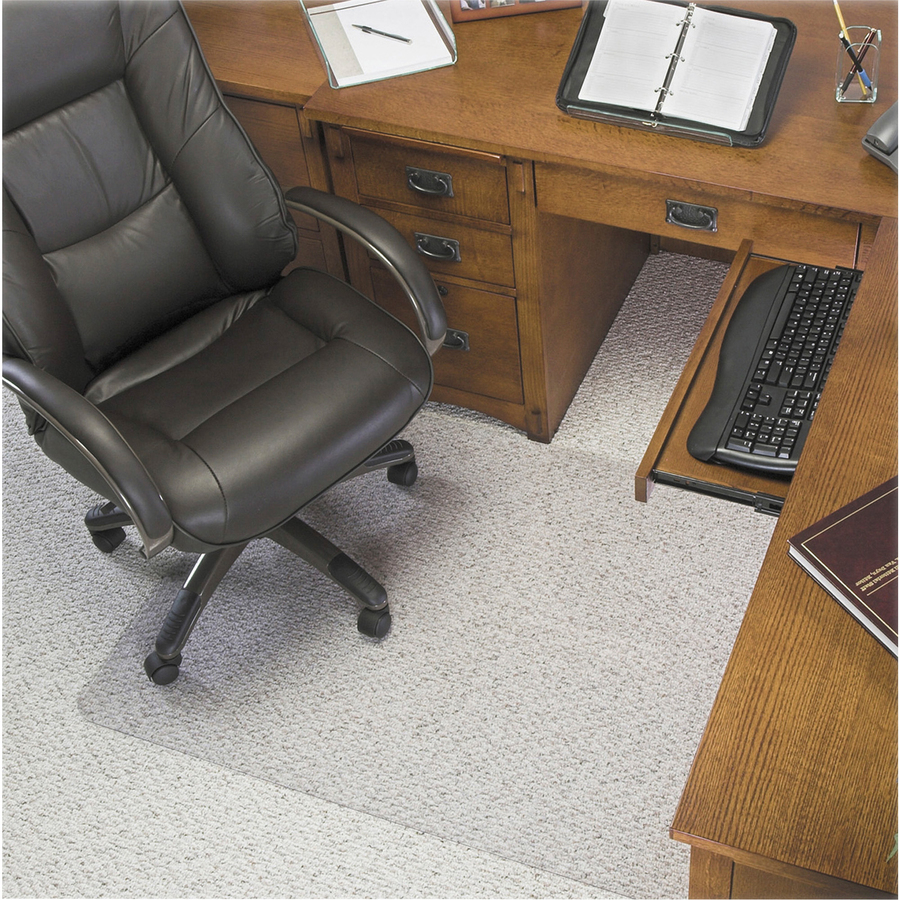 glass clear chair mat defcm33233 def cm33233 great office buys