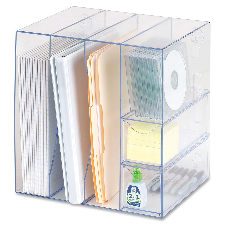 Rubbermaid optimizer 4 way organizer w drawers - Rubbermaid desk organizer ...